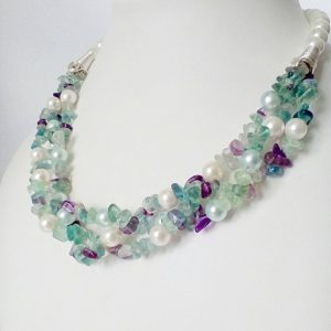 Flourite Necklace - Chic Valentina