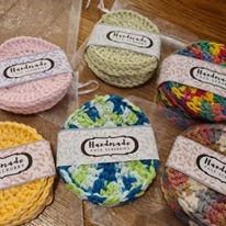 100% Cotton Facial Scrubby Sets - Pitter Patter Tiny Feet Knitting Emporium